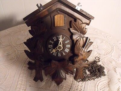 Vintage Cuckoo Black Forest Clock For Repair Or Parts