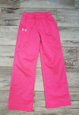 Girl's Under Armour Storm pink sweatpants Size YSM Youth Small 8 warm