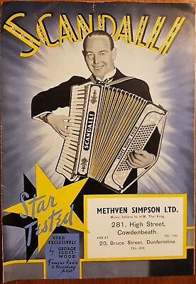 Scandalli Accordion Brochure 1930, Scott Wood Four, Vibrante, Advertising Poster
