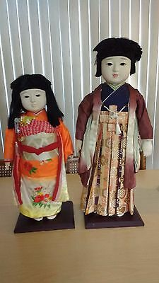 Unique Japanese Ichimatsu Boy and Girl dolls sold as a set