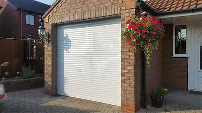 Remote Insulated Electric Roller Garage Door in White ( free delivery ) £450..