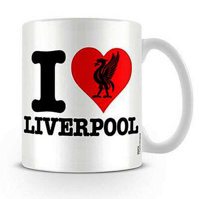 I Heart Liverpool Ceramic Mug Cup LFC Fan Gift New Official Licensed Product