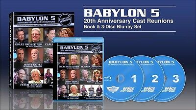 Babylon 5 :  Cast Reunion Blu-Ray With Autographed Book Set