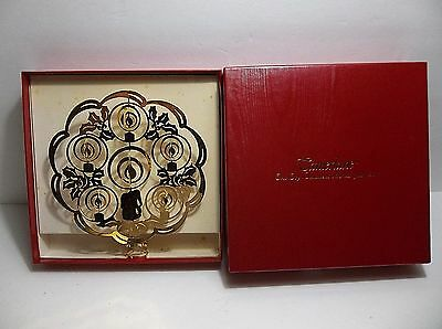 Vintage TAMERLANE Christmas Tree Topper CANDLES #16009  BOXED 24Kt Gold Finish