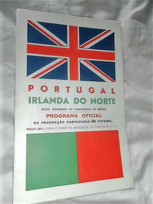 Rare 1957 World Cup Qual Portugal V Northern Ireland