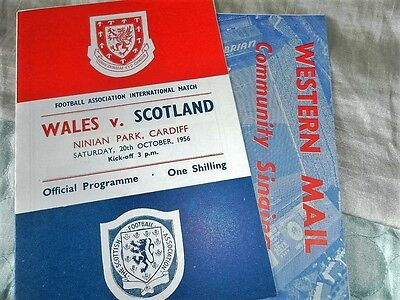 1956 Wales V Scotland + Song Sheet