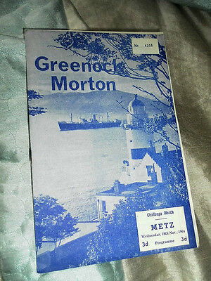 1964 Friendly Greenock Morton V Metz France