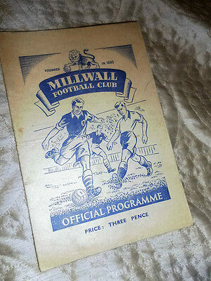 1951/2 Fa Cup Millwall V Plymouth Argyle