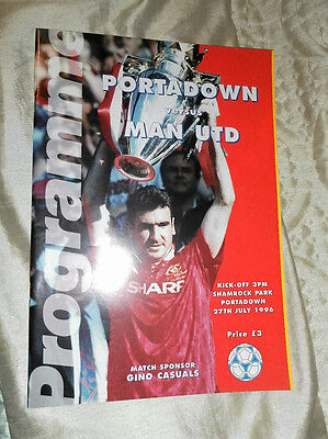 1996 Portadown V Manchester United Pre Season Friendly