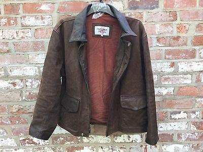 Indiana jones leather jacket Walt Disney original large MADE IN USA movie jacket