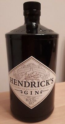 Hendricks Gin Bottle Empty 1 Litre. Wedding Decoration, Vase, Upcycle, Light.