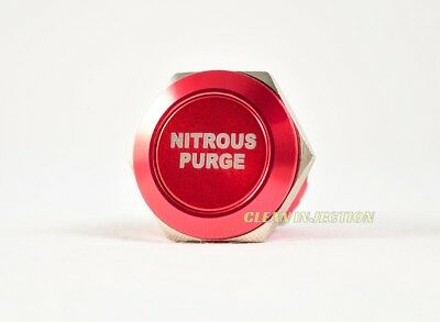 RED 19MM PURGE NITROUS OXIDE NOS Billet Momentary activation Push Button NX