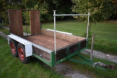twin axle 4 wheel heavy duty plant trailer 9ft7in x 5ft8in