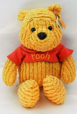 "Walt Disney Store Exclusive 10"" Chenille Winnie The Pooh Bear Plush Toy Corduroy"