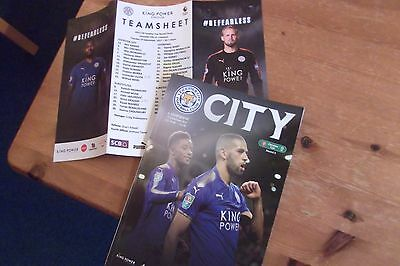 Leicester City V Liverpool 2017/18 Carabao Cup Teamsheet