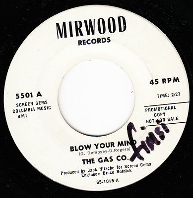 The Gas Co 1965 Us Mirwood Promo *blow Your Mind/ Your Time's Up*  Psych