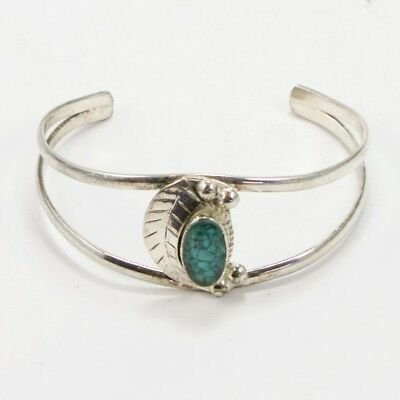 """VTG Alpaca - MEXICAN Crushed Turquoise Inlay 6.75"""" Cuff Bracelet - 13g"""