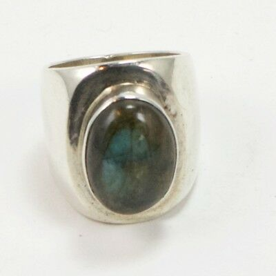 VTG Sterling Silver - MEXICAN Abalone Ring Size 6.5 - 18g