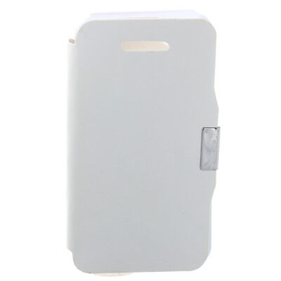 Flip Leather Magnetic Flap Case Cover Protect White for iPhone 4 4s M3R1 J3O9
