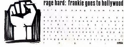 "30/8/86pg4 Single Advert 4x10"" Frankie Goes To Hollywood, Rage Hard"