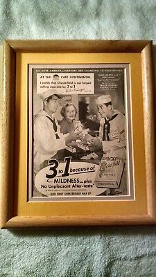Dean Martin And Jerry Lewis Chesterfield Ad Matted And Framed 8X10