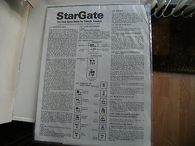 Vintage SPI Star Gate Game - Complete with Rules, Map & Unpunched Counters