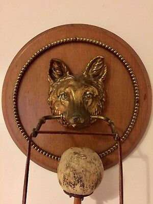 Large Heavy Dinner Gong with Face of Wolf/Dog