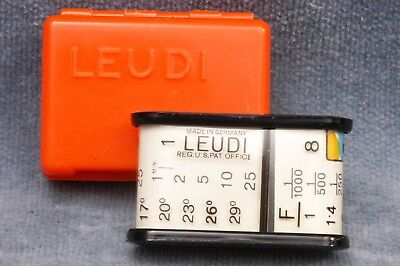 Tiny Vintage Leudi Extinction Photographic Exposure Meter - Free Usa Shipping