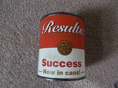 VINTAGE Success In A Can Tin Motivational Gift Joke Gag The Results Program