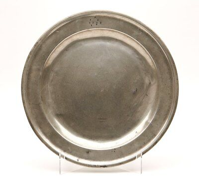 Antique English Pewter Charger Or Plate 18Th C.