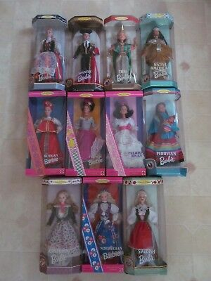 Lot of Barbie Dolls: Dolls of the World Collection Mix lot of 11 NIB