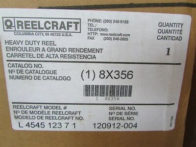 New Reelcraft 8X356 Heavy Duty Electric Reel E-45