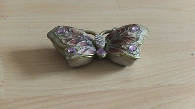 Lovely Butterfly Trinket Box , Magnectic Closing Lids
