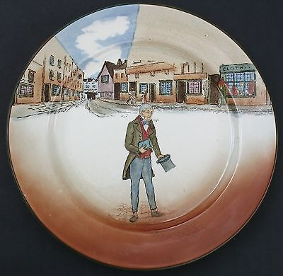 """Royal Doulton Dickens-Ware """"tom Pinch"""" Vintage 10"""" Plate England"""