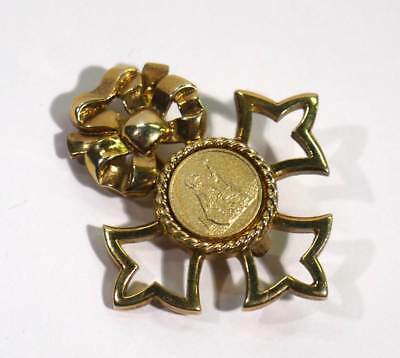 "Vintage 9ct Gold British OBE Empire Brooch ""For God and the Empire"" 11.9g Scrap."