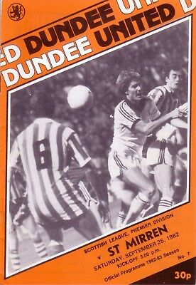 DUNDEE UNITED v ST MIRREN 1982/83 LEAGUE (SEP)