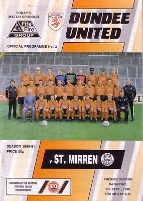 DUNDEE UNITED v ST MIRREN 1990/91 LEAGUE (SEP)