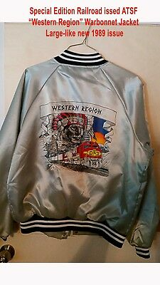 "ATSF ""Western Region"" railroad issued jacket 1989"