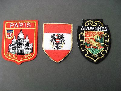 Travel Patches 3 Germany Paris France Sacre Coeur  Ardennes New