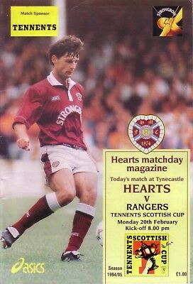 HEARTS v RANGERS 1994/95 SCOTTISH CUP