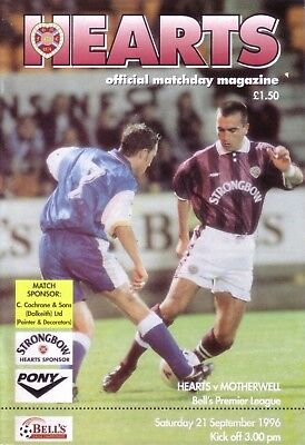 HEARTS v MOTHERWELL 1996/97 LEAGUE (SEP)