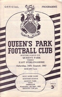 QUEEN'S PARK v EAST STIRLING 1963/64 LEAGUE CUP
