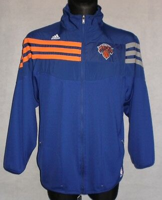 NEW YORK KNICKS adidas Basketball NBA Jersey Tracksuit Top Tracktop Zip Jacket L