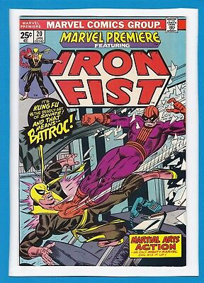 Marvel Premiere #20_January 1975_Vf/nm_Iron Fist_Batroc_Martial Arts Action!