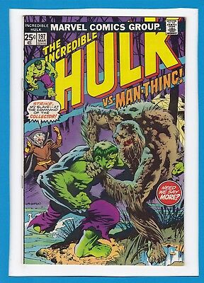 "INCREDIBLE HULK #197_MARCH 1976_VERY FINE_""HULK Vs MAN-THING""_BRONZE AGE MARVEL!"