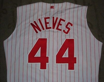 Melvin Nieves Cincinnati Reds Game Worn Used Jersey (Braves Padres Tigers)