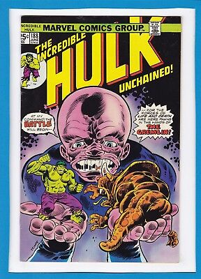 "Incredible Hulk #188_June 1975_Fine/very Fine_""in The Hands Of The Gremlin""!"