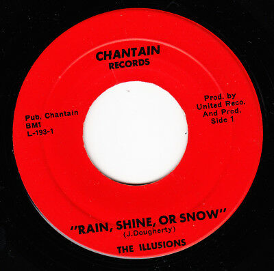 The Illusions 1968 Us *rain, Shine Or Snow/ Shadows Of You* Garage Beat N Mint