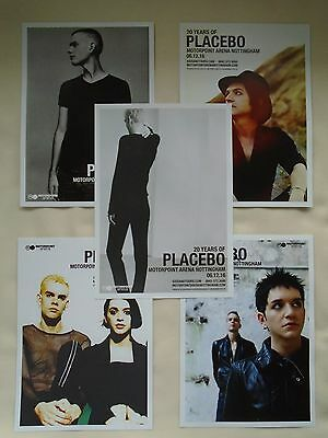 PLACEBO In Concert 20 Years of Placebo UK Arena Tour 2016 RARE Promo flyers x 5