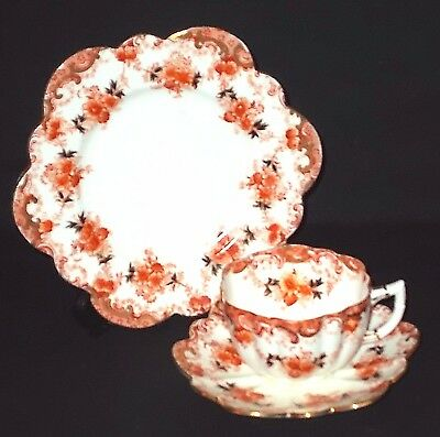 ANTIQUE The Paragon STAR CHINA COMPANY - RED IMARI - Cup, Saucer & Plate - TRIO